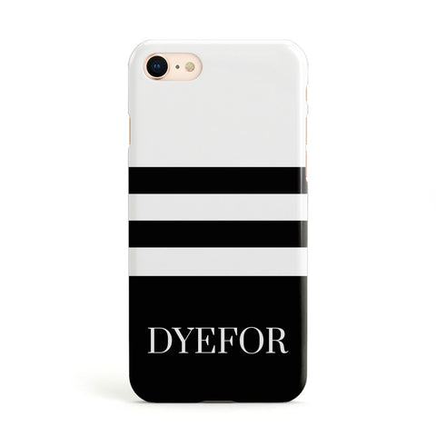 Personalised Striped Name Apple iPhone Case