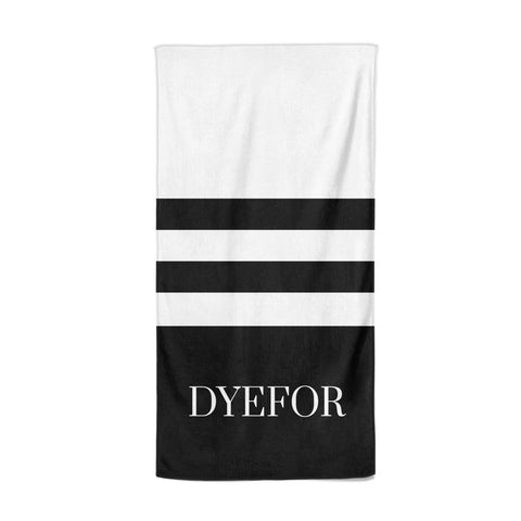 Personalised Striped Name Beach Towel