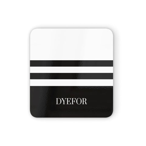 Personalised Striped Name Coasters set of 4