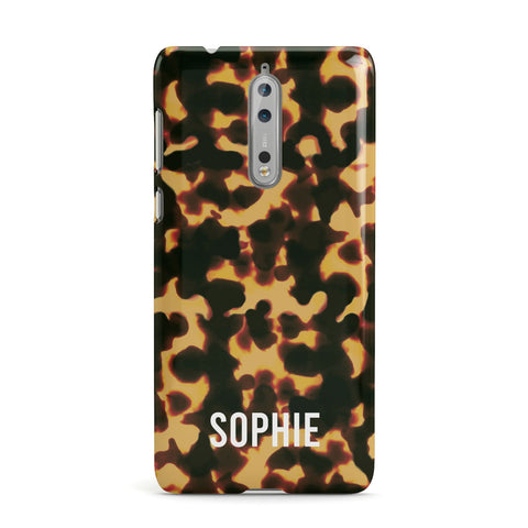 Personalised Tortoise Shell Pattern Nokia Case