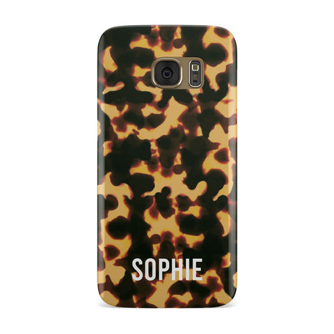 Personalised Tortoise Shell Pattern Samsung Galaxy Case