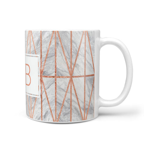 Personalised Triangular Marble Initials Mug