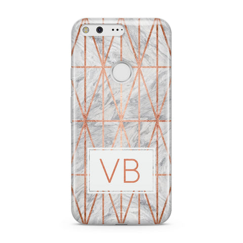 Personalised Triangular Marble Initials Google Case