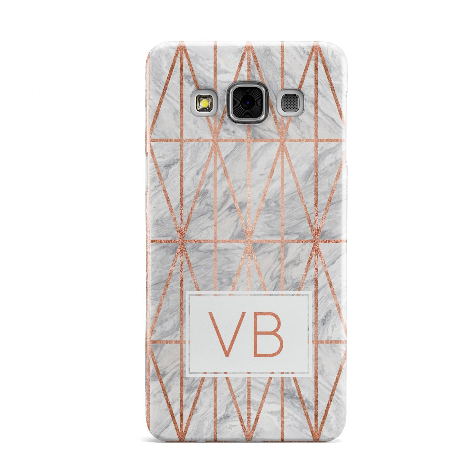 Personalised Triangular Marble Initials Samsung Galaxy A3 Case