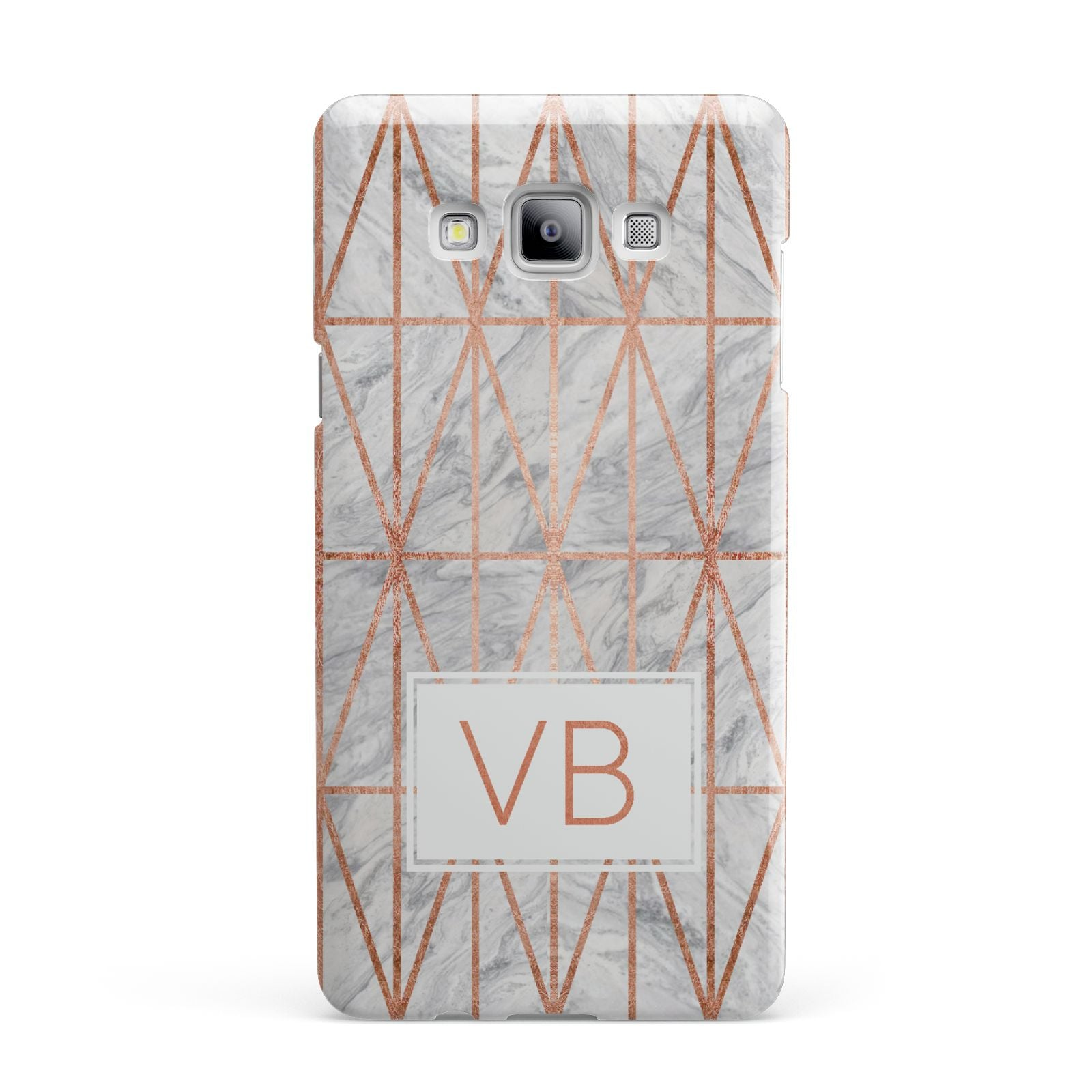 Personalised Triangular Marble Initials Samsung Galaxy A7 2015 Case