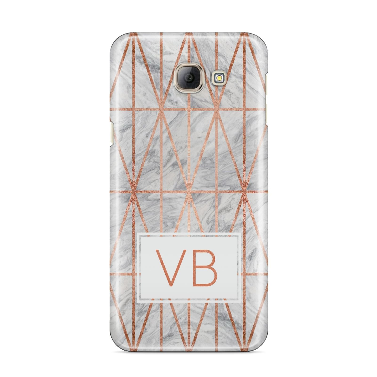 Personalised Triangular Marble Initials Samsung Galaxy A8 2016 Case