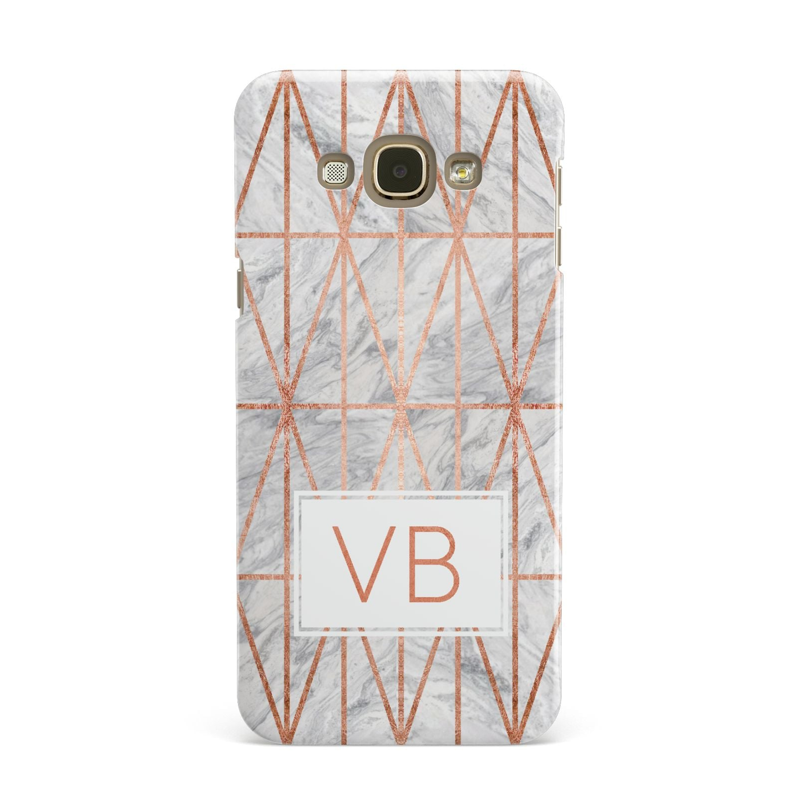 Personalised Triangular Marble Initials Samsung Galaxy A8 Case