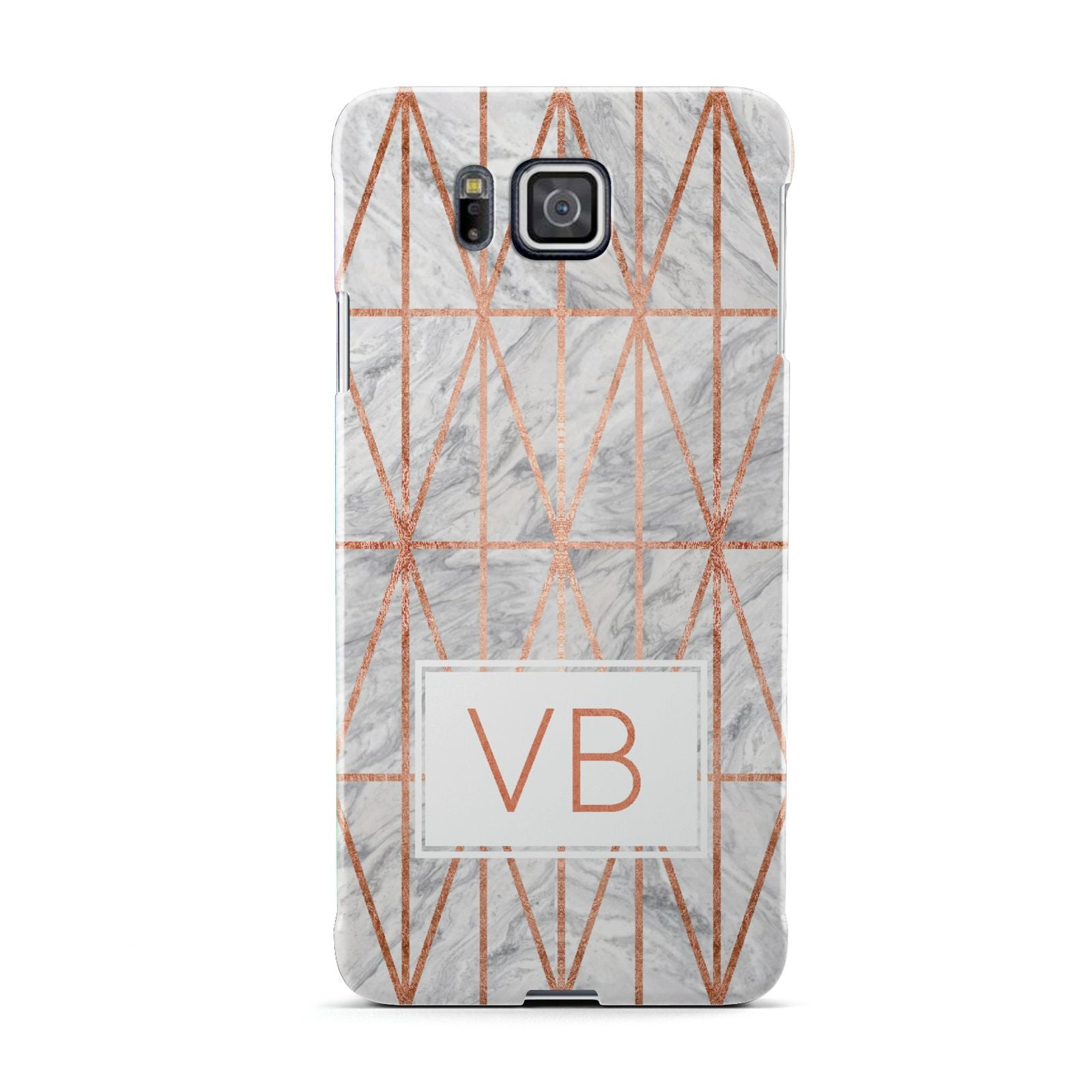 Personalised Triangular Marble Initials Samsung Galaxy Alpha Case