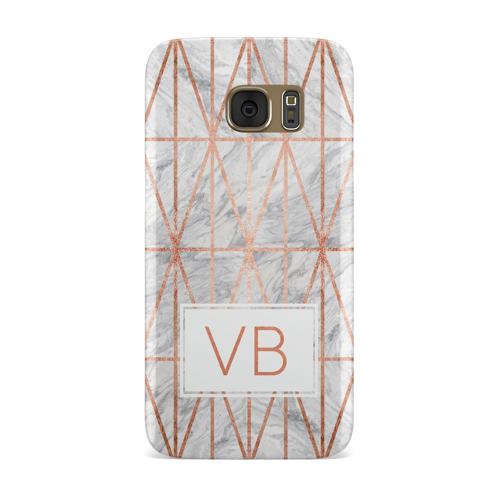 Personalised Triangular Marble Initials Samsung Galaxy Case