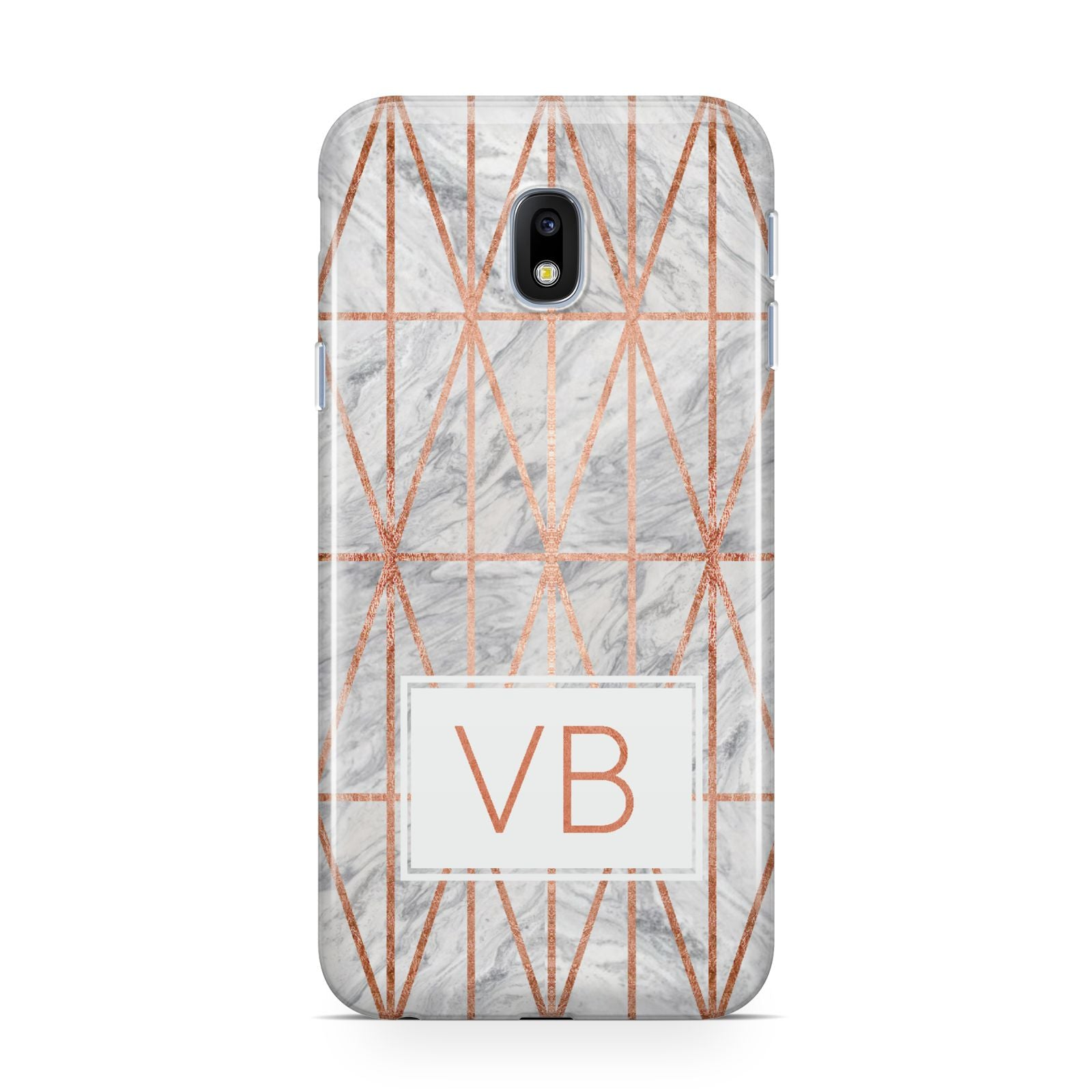 Personalised Triangular Marble Initials Samsung Galaxy J3 2017 Case