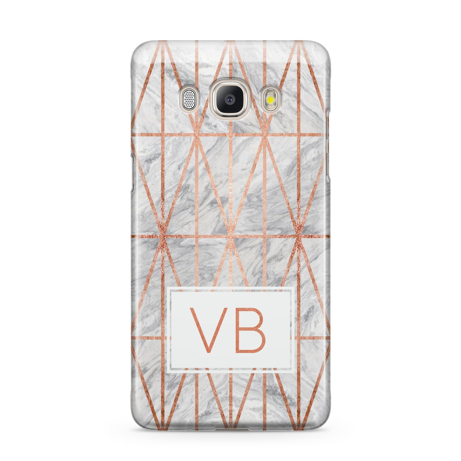 Personalised Triangular Marble Initials Samsung Galaxy J5 2016 Case