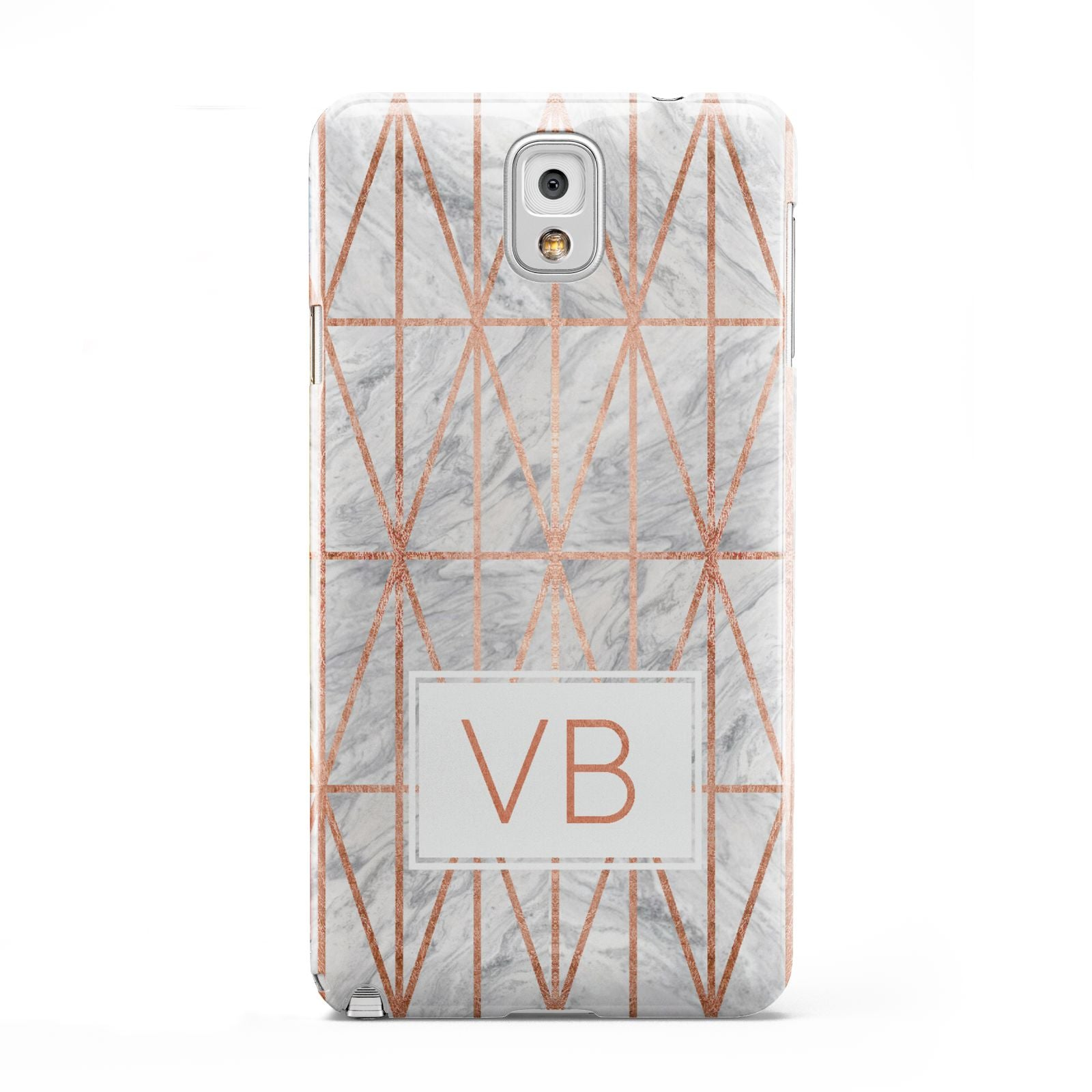Personalised Triangular Marble Initials Samsung Galaxy Note 3 Case