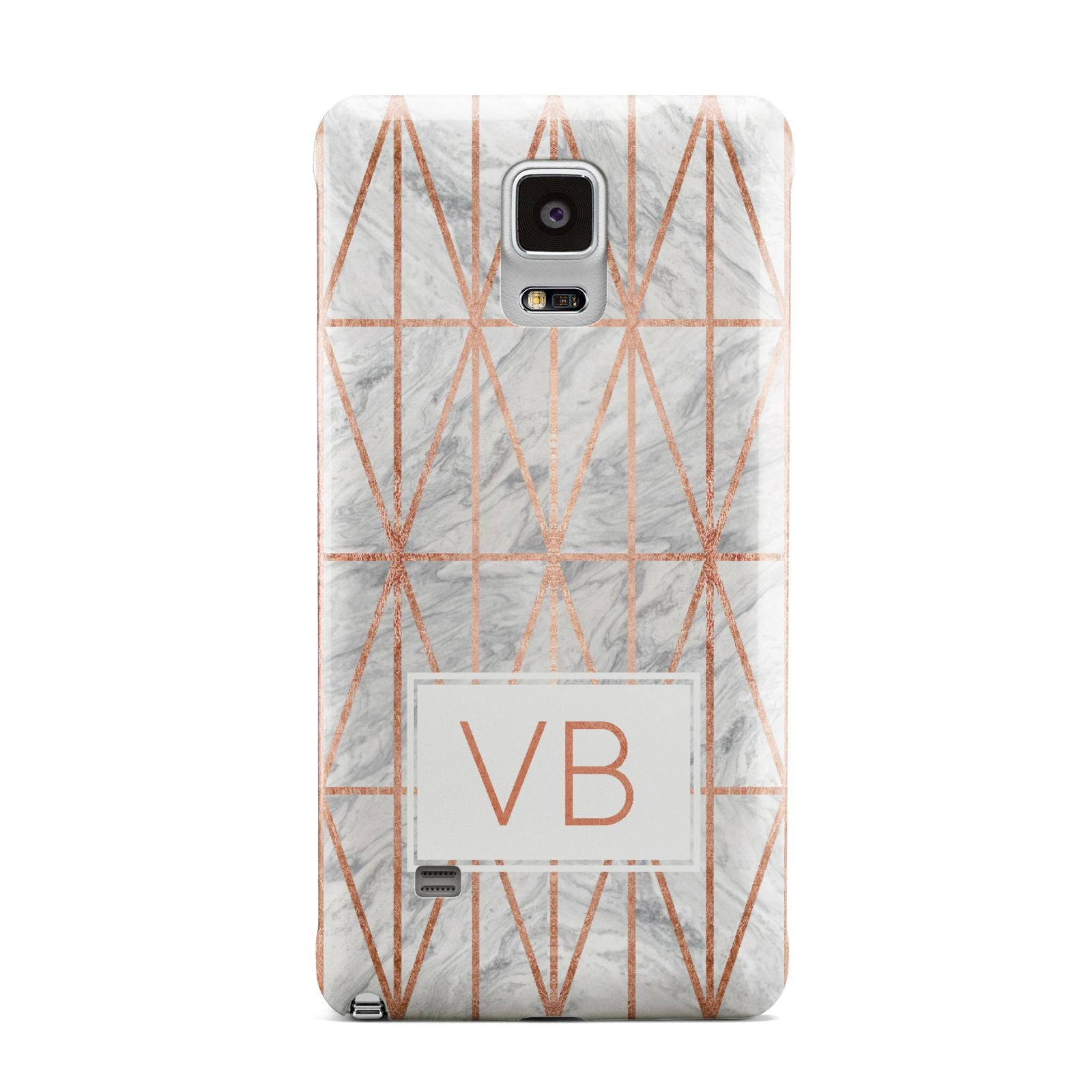 Personalised Triangular Marble Initials Samsung Galaxy Note 4 Case