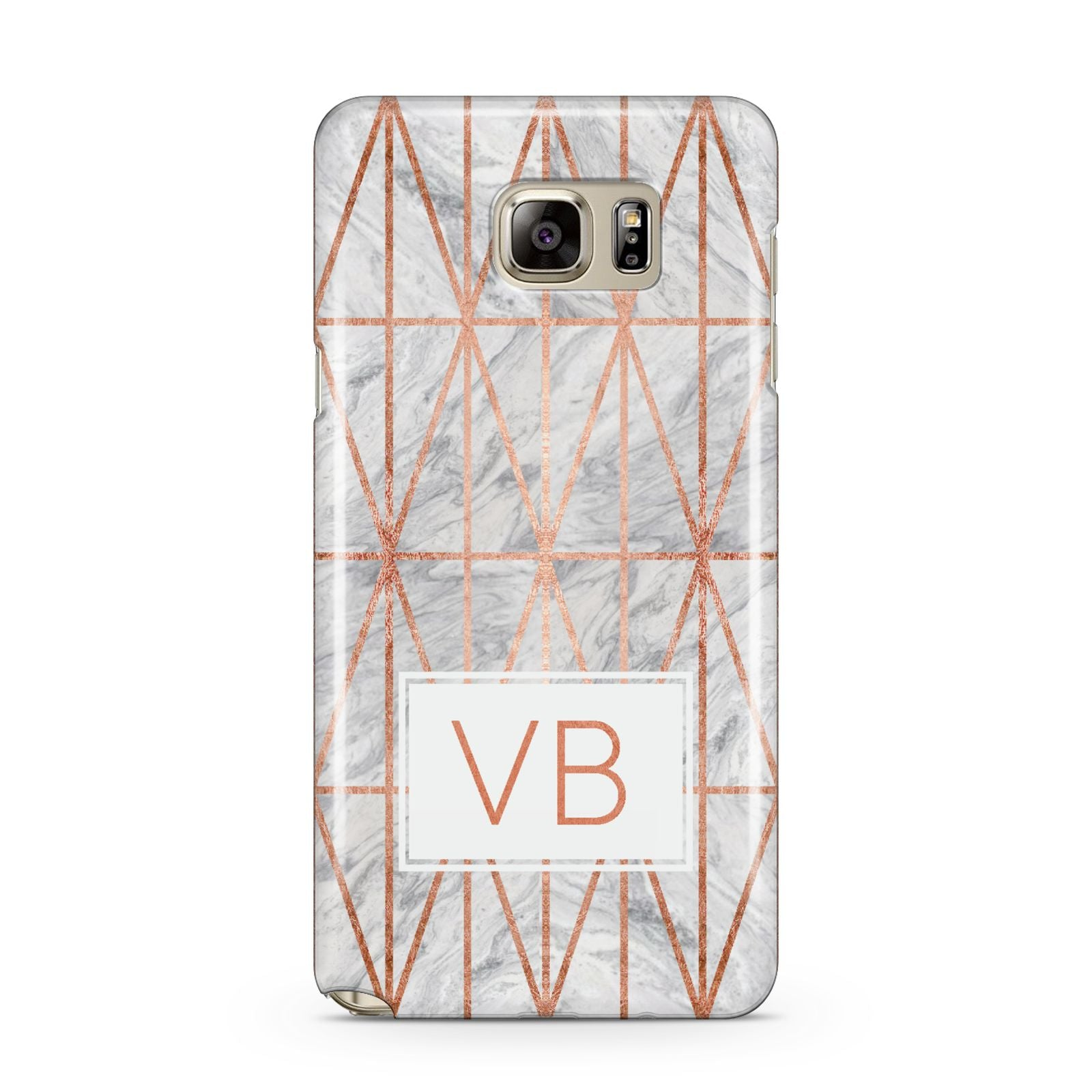 Personalised Triangular Marble Initials Samsung Galaxy Note 5 Case