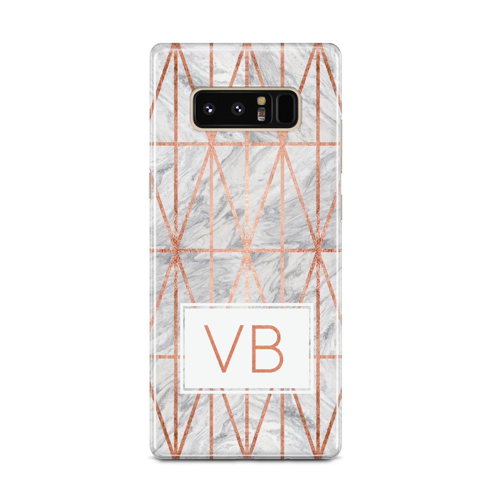 Personalised Triangular Marble Initials Samsung Galaxy Note 8 Case