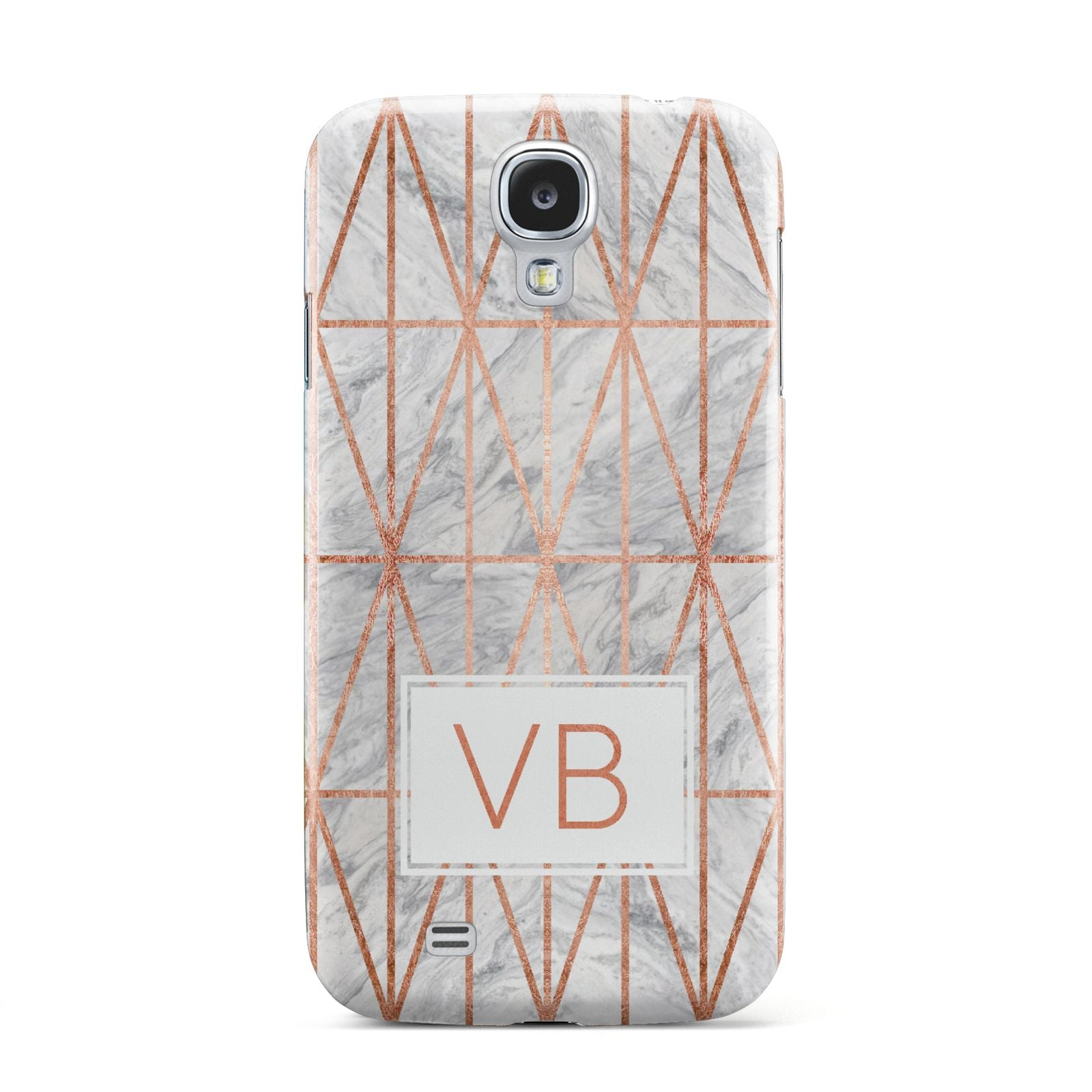 Personalised Triangular Marble Initials Samsung Galaxy S4 Case