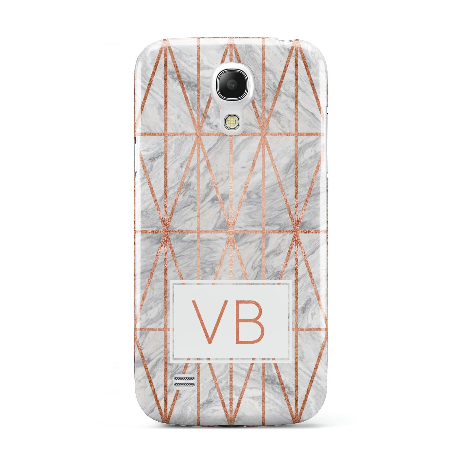 Personalised Triangular Marble Initials Samsung Galaxy S4 Mini Case