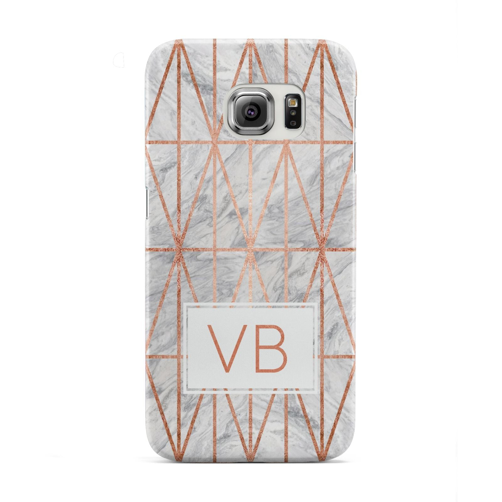 Personalised Triangular Marble Initials Samsung Galaxy S6 Edge Case