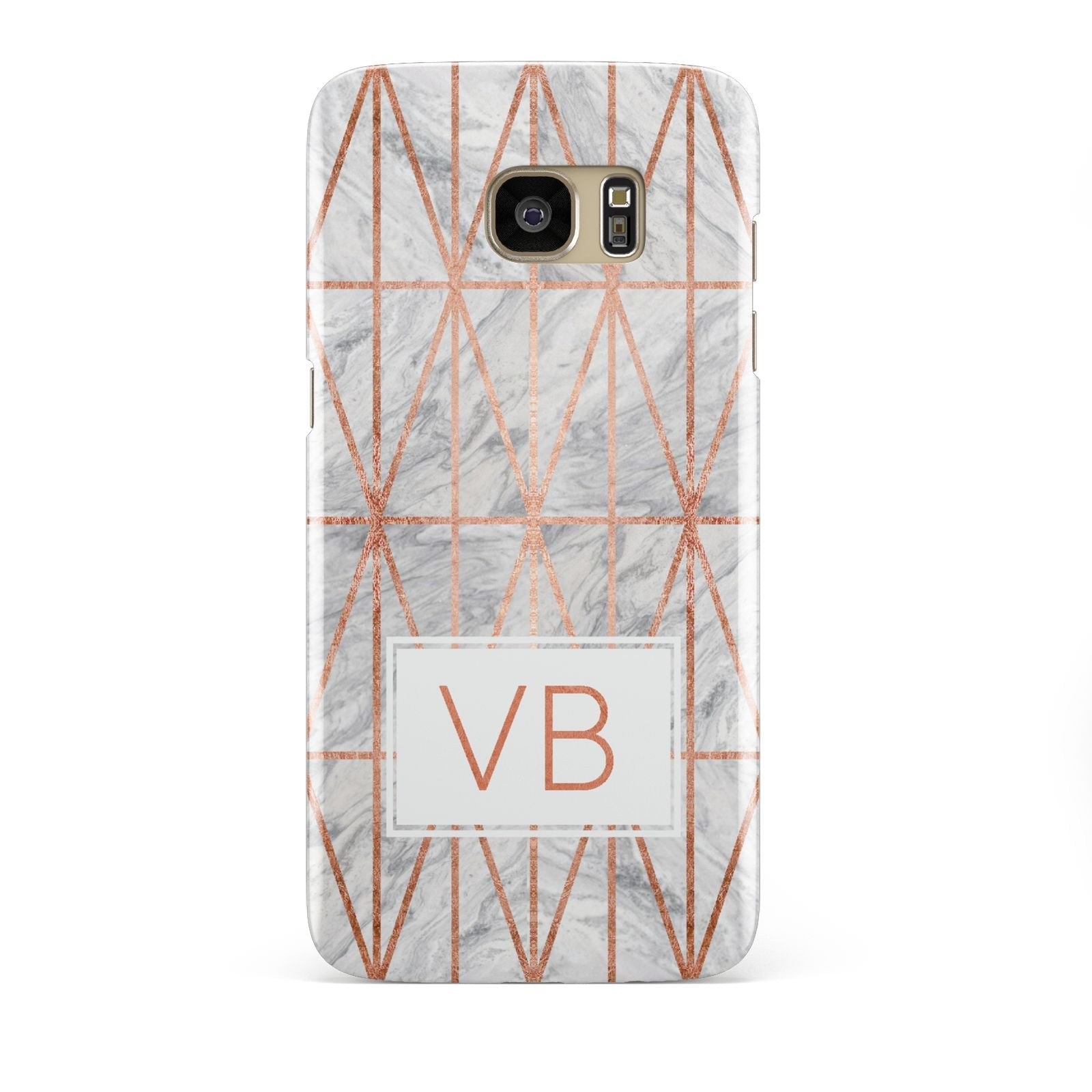Personalised Triangular Marble Initials Samsung Galaxy S7 Edge Case