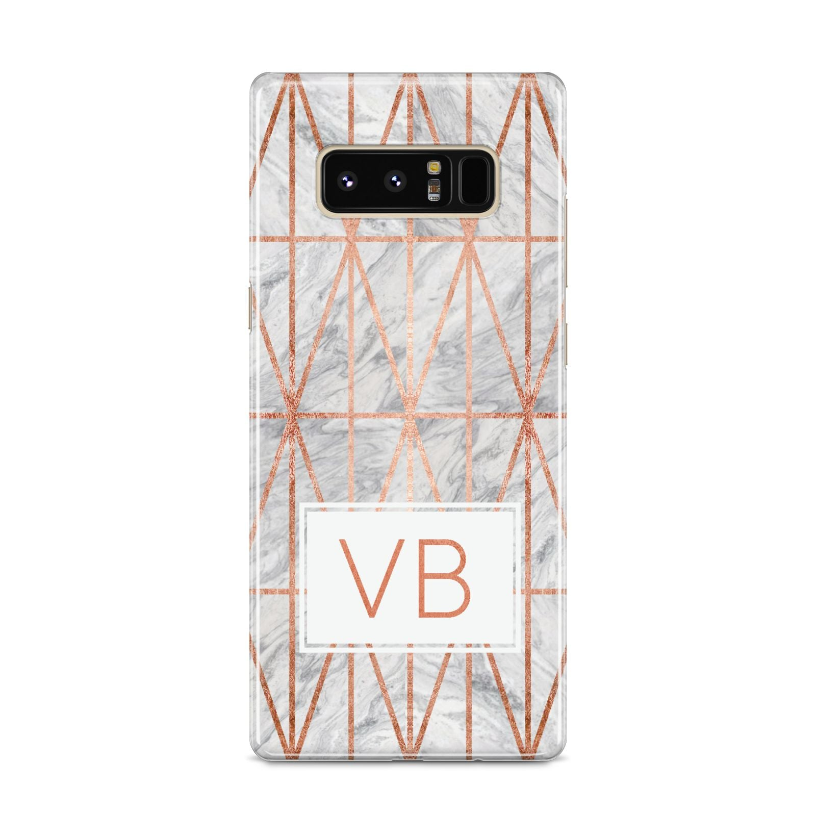 Personalised Triangular Marble Initials Samsung Galaxy S8 Case