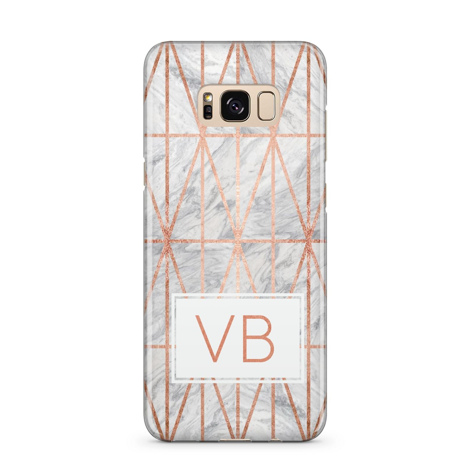 Personalised Triangular Marble Initials Samsung Galaxy S8 Plus Case