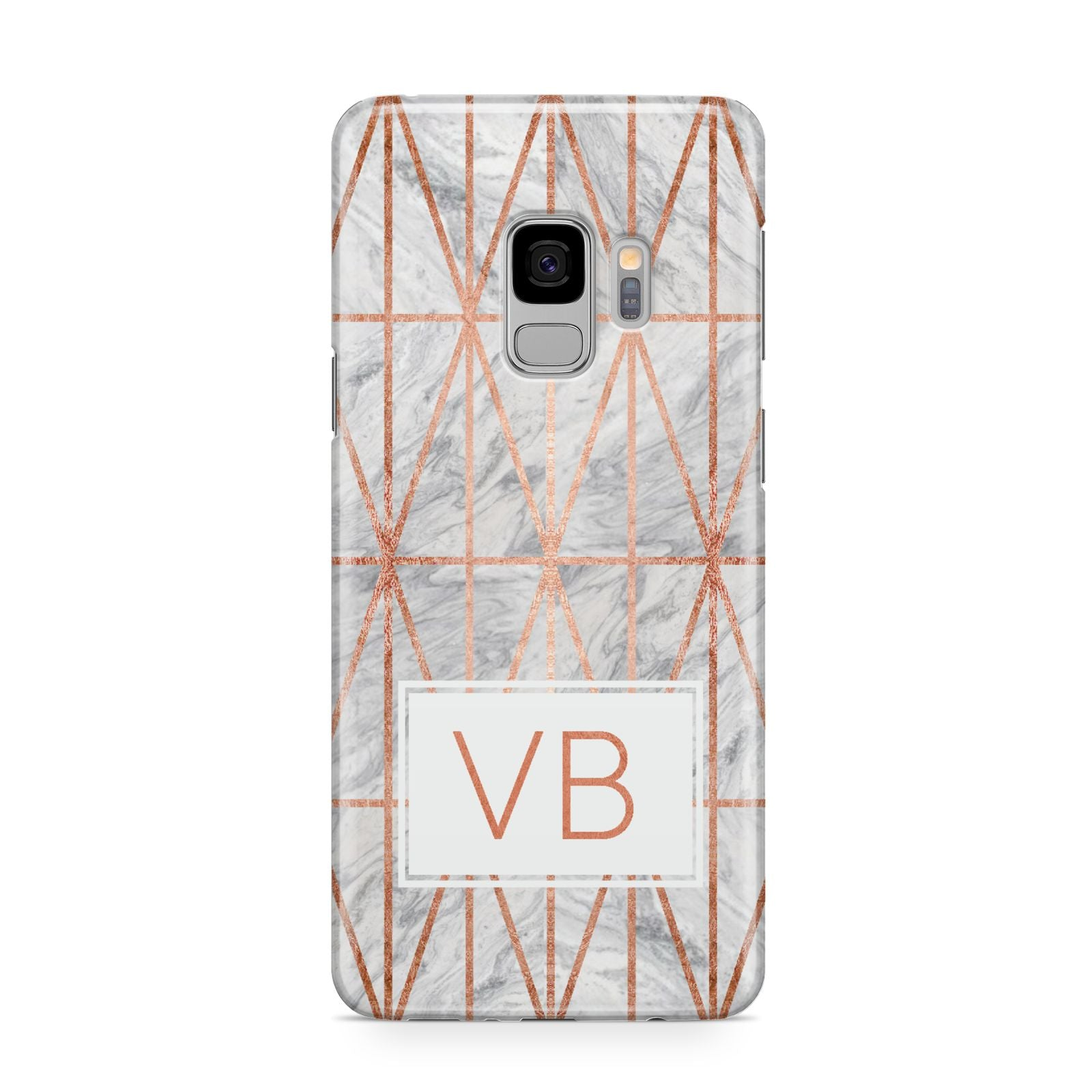 Personalised Triangular Marble Initials Samsung Galaxy S9 Case