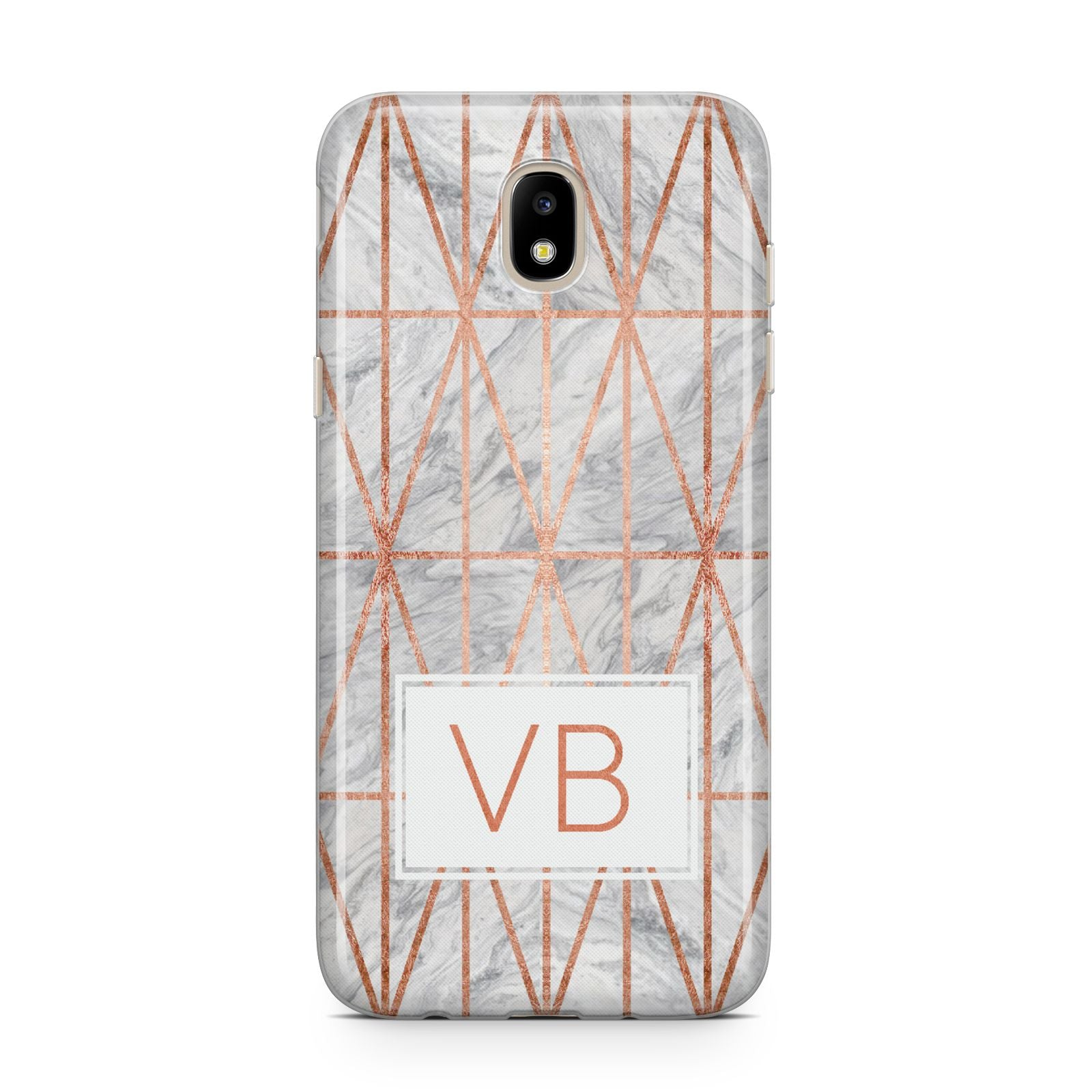 Personalised Triangular Marble Initials Samsung J5 2017 Case