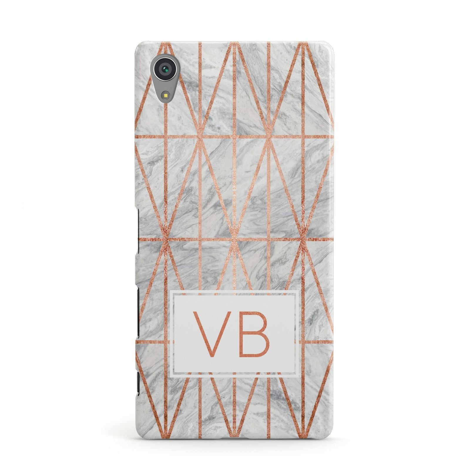 Personalised Triangular Marble Initials Sony Xperia Case