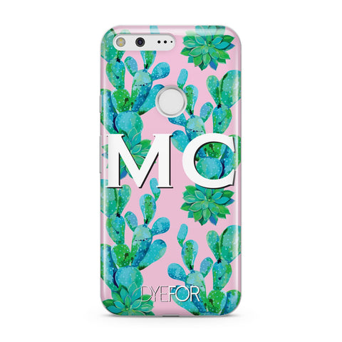 Personalised Tropical Pink Cactus Google Case