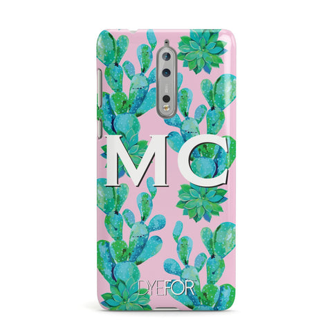 Personalised Tropical Pink Cactus Nokia Case