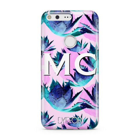 Personalised Tropical Pink Green Abstract Google Case