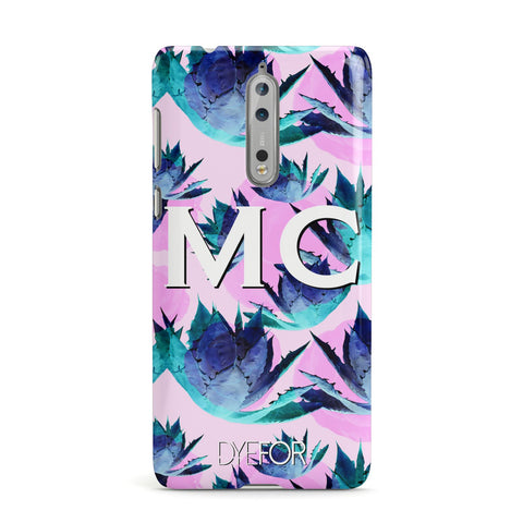 Personalised Tropical Pink Green Abstract Nokia Case
