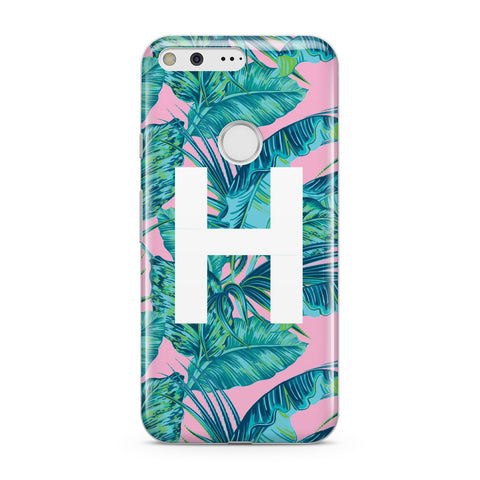 Personalised Tropical Pink and Green Google Case