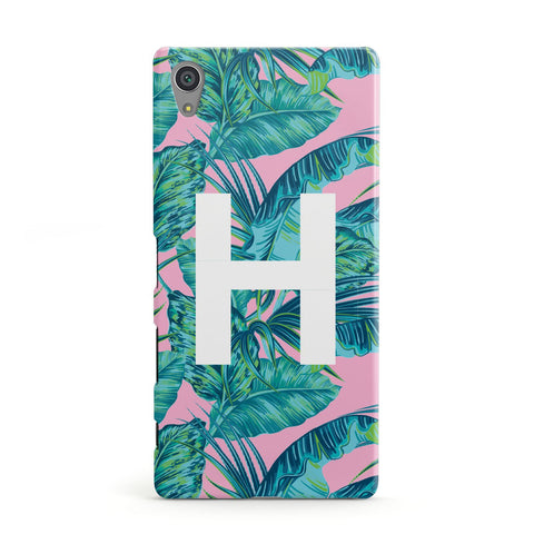 Personalised Tropical Pink and Green Sony Case