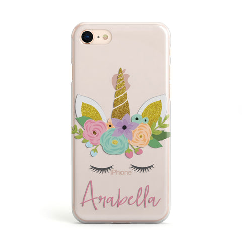 Personalised Unicorn Face Apple iPhone Case
