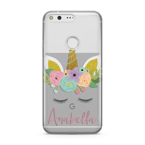 Personalised Unicorn Face Google Case