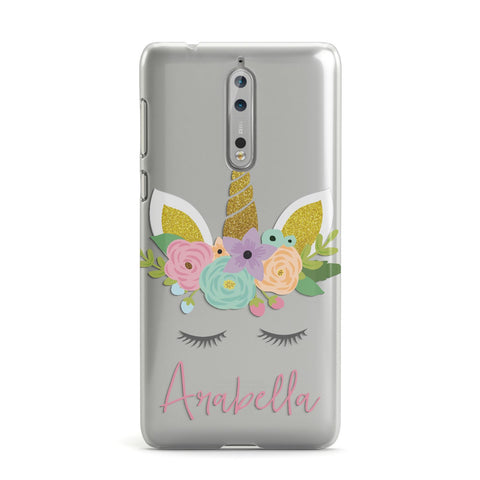 Personalised Unicorn Face Nokia Case