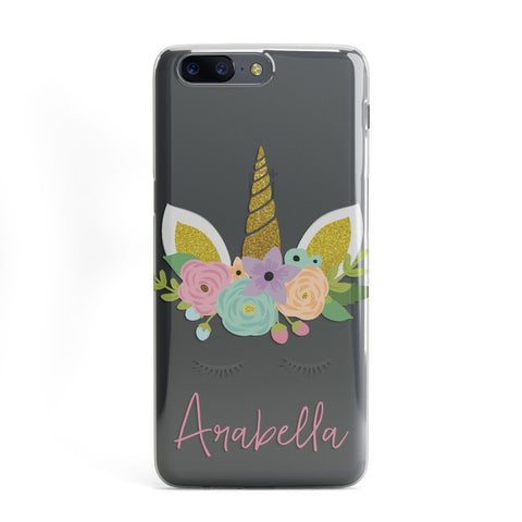 Personalised Unicorn Face OnePlus Case