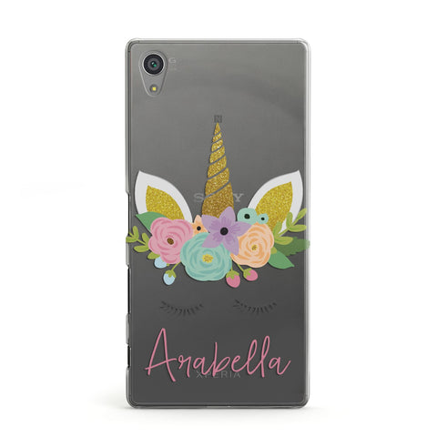 Personalised Unicorn Face Sony Case