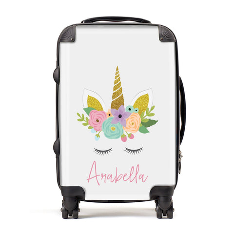 Personalised Unicorn Face Suitcase