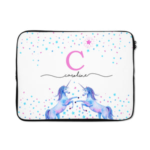 Personalised Unicorn Laptop Bag with Zip