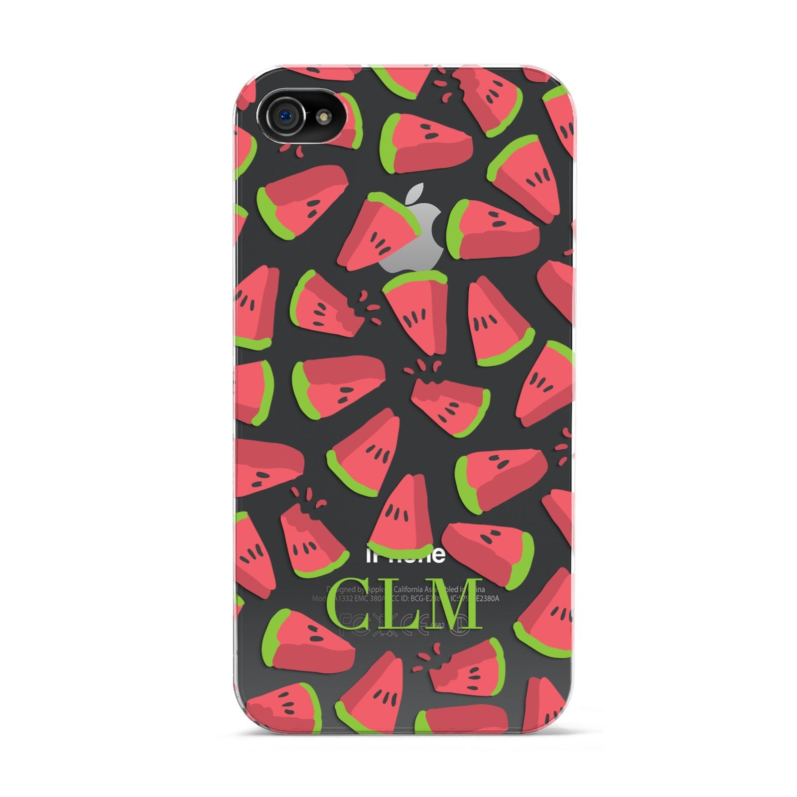 Personalised Watermelon Monogram Apple iPhone 4s Case