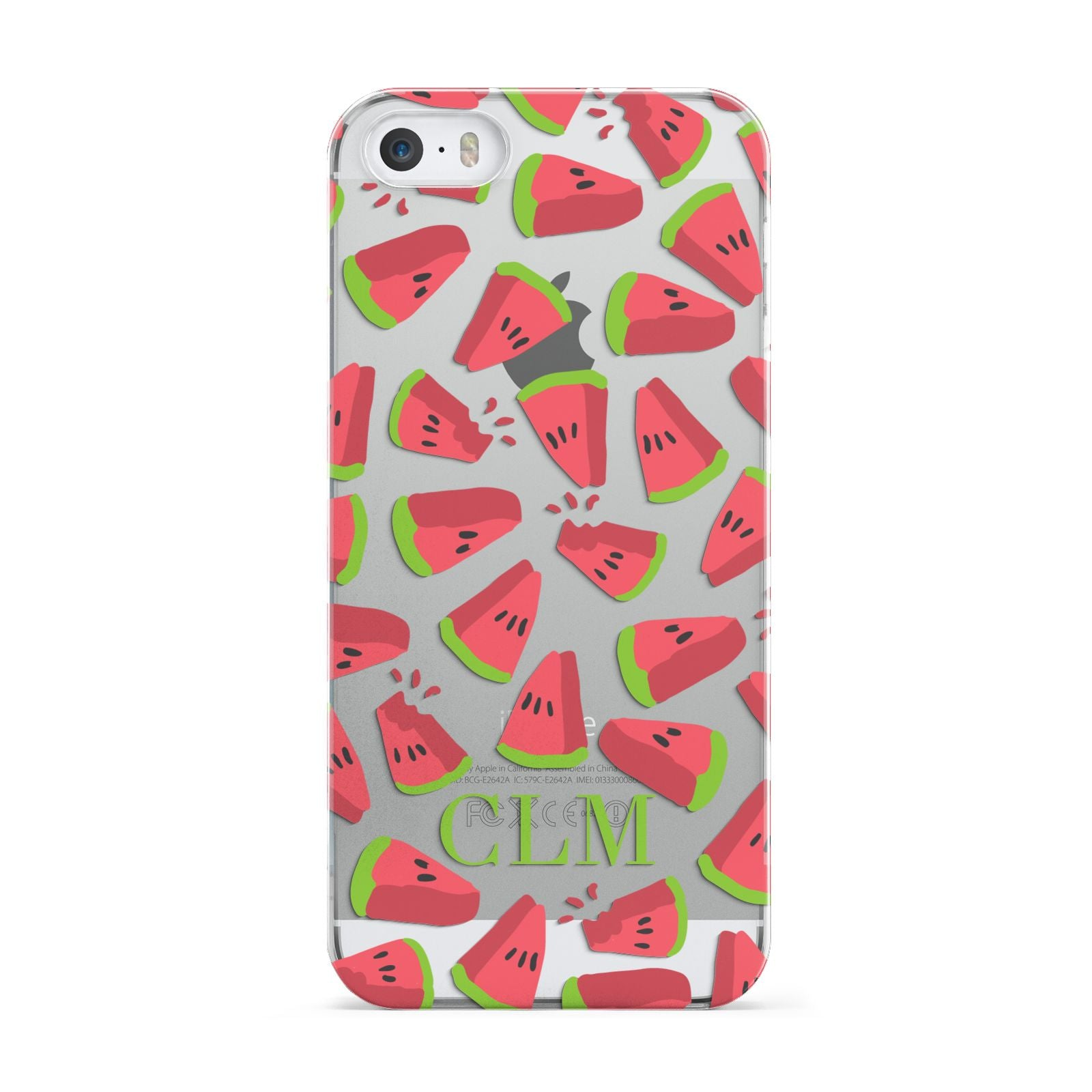 Personalised Watermelon Monogram Apple iPhone 5 Case