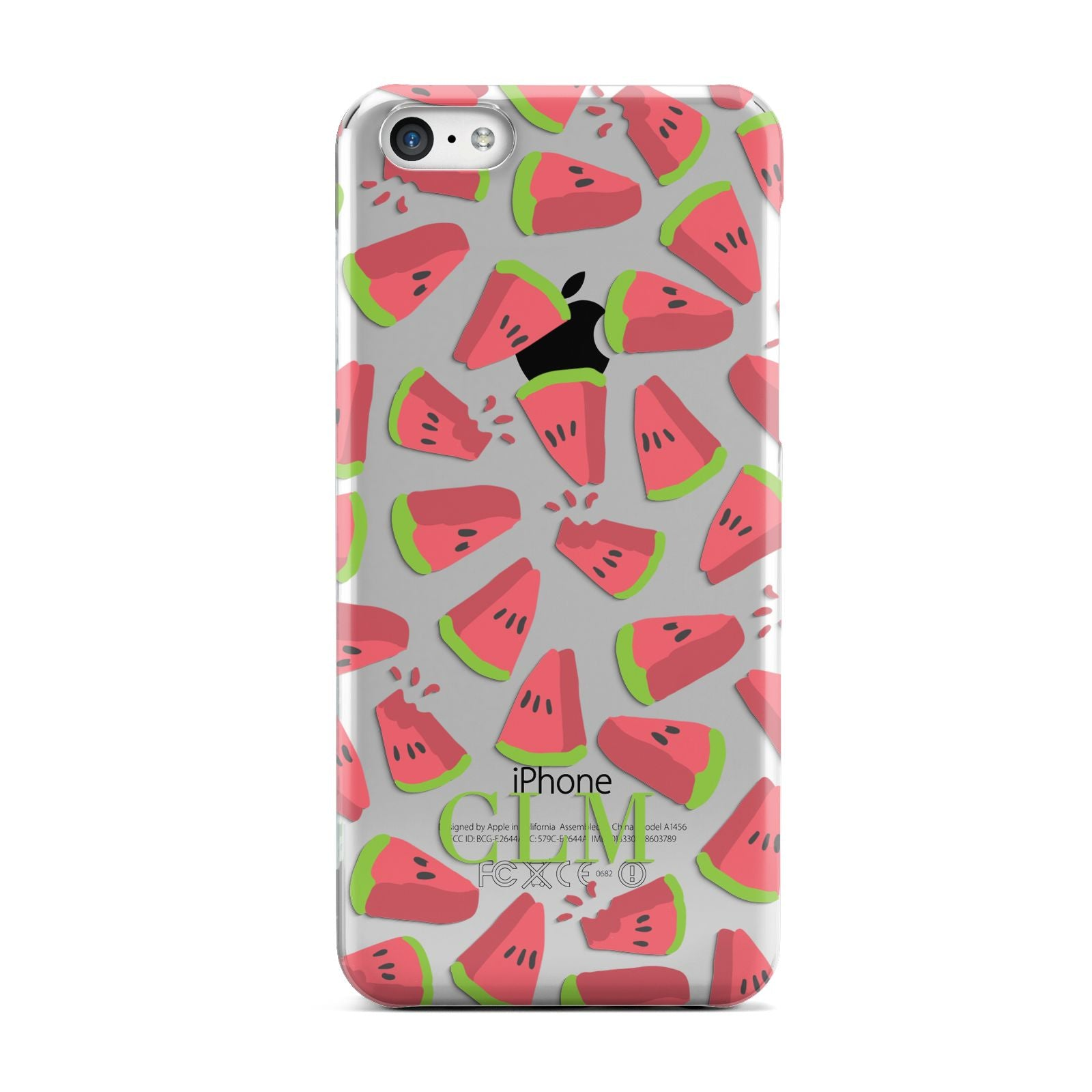 Personalised Watermelon Monogram Apple iPhone 5c Case