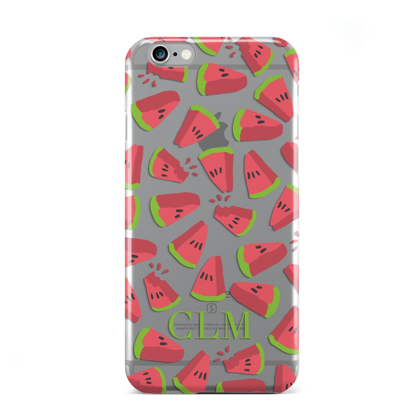 Personalised Watermelon Monogram Apple iPhone 6 Case