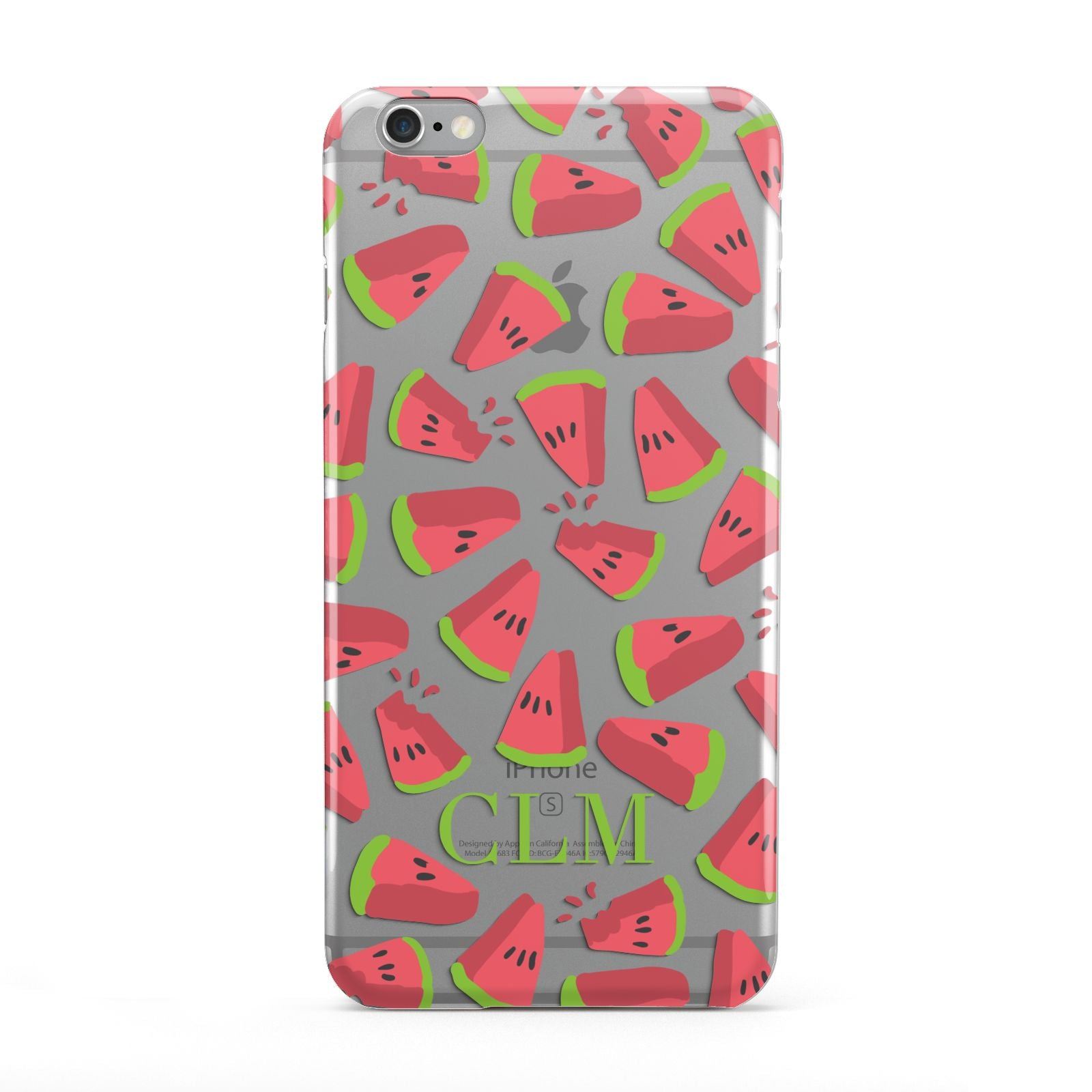 Personalised Watermelon Monogram Apple iPhone 6 Plus Case