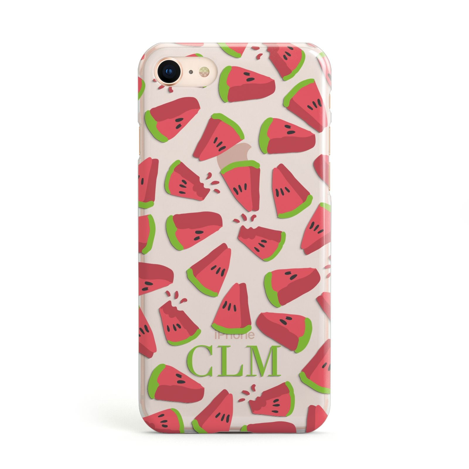 Personalised Watermelon Monogram Apple iPhone Case