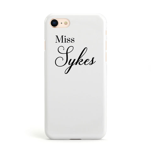 Personalised Wedding Name Miss Apple iPhone Case