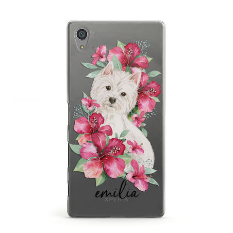 Personalised Westie Dog Sony Case