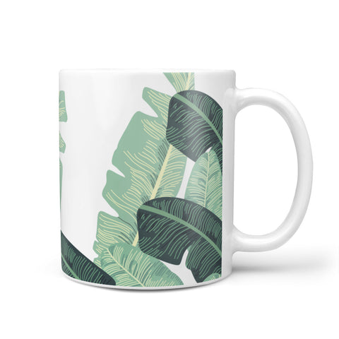 Personalised White Banana Leaf Mug